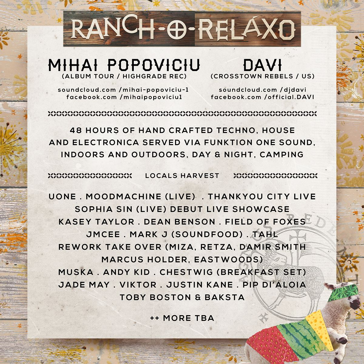 RANCHO LINE UP