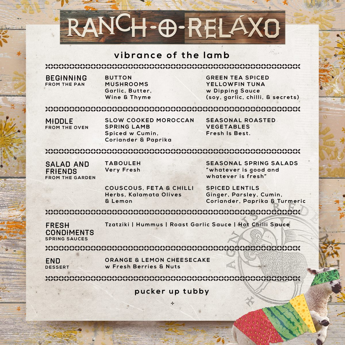 RANCHO MENU